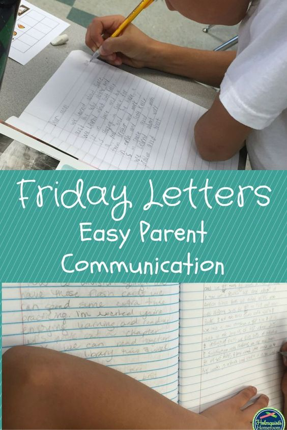 Friday Letters are an easy way to increase communication between home and school.  Students write a weekly letter to their parents telling them about their week in school.