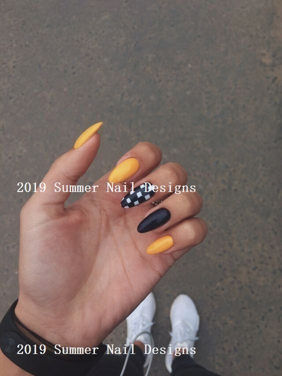 33 Cute Summer Nail Design Ideas 2019 Summernaildesigns Nailideas Nail Art Designs Summer Summer Nails Nail Art Summer