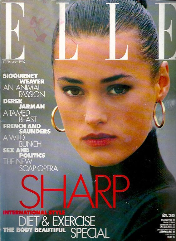 mag scan british elle feb 1989: