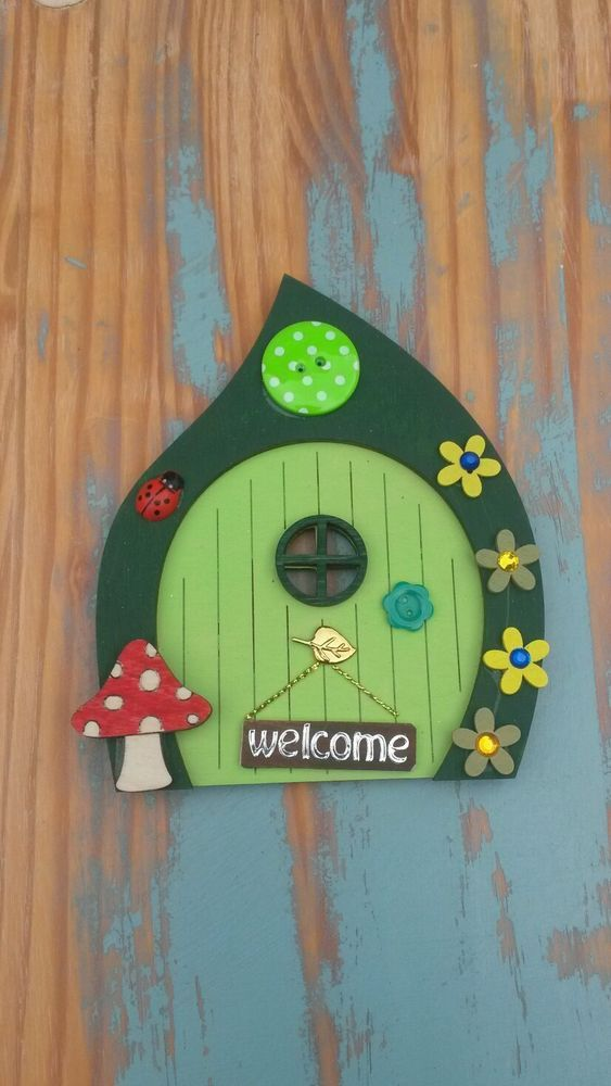 Tooth fairy door elf pixie hobbit door hand painted for The magic elf door