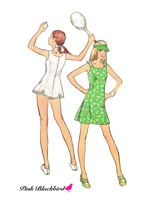 Butterick Pattern 9388Little Girls Tennis Dress Patternwith Bloomers ...