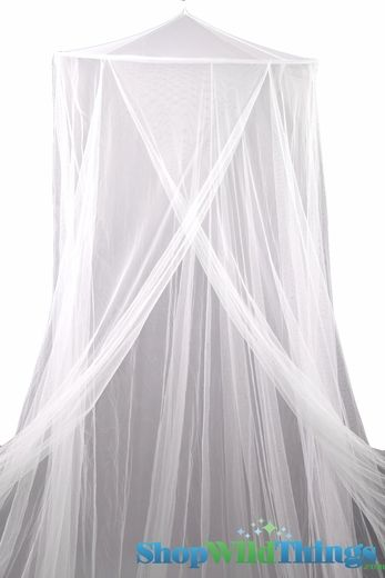 White Mosquito Net canopy: Try to tea dye and embellish with ribbon, pennants, beige pointe 'espirit with lace etc.