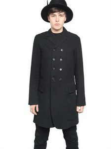 Ann Demeulemeester - Wool/linen Double Breasted Jacket | FashionJug.com