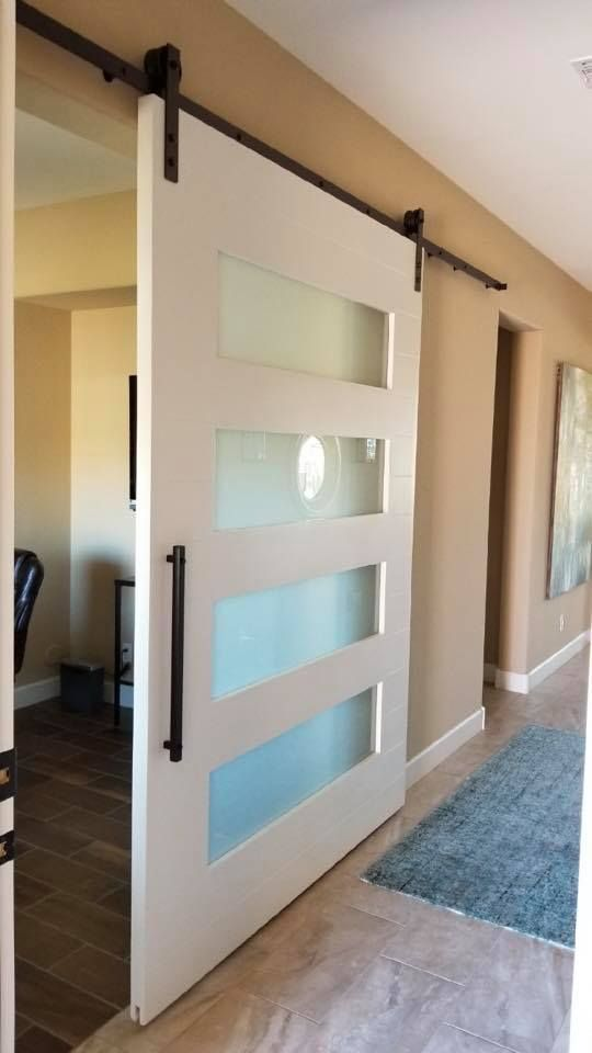 Amazing 4 Lite Barn Door With Frosted Glass Glass Barn Doors Interior Frosted Glass Barn Door Barn Door
