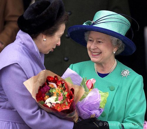 The Queen and The Princess Royal after the Christmas Day church service 2001
