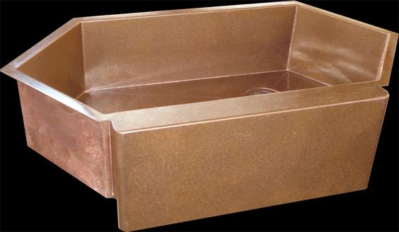 Copper Corner Sink : corner diagonal front copper copper corner sinks asp tough sink sink ...