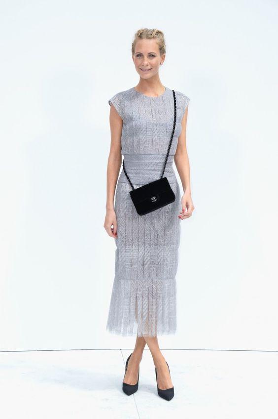 Poppy Delevingne bei der Haute Couture Show 2015 von Chanel