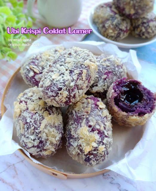 Resep Ubi Krispi Coklat Lumer Duh Ngecess Liatnyaa Resep Spesial Makanan Ringan Gurih Makanan Makanan Ringan Manis