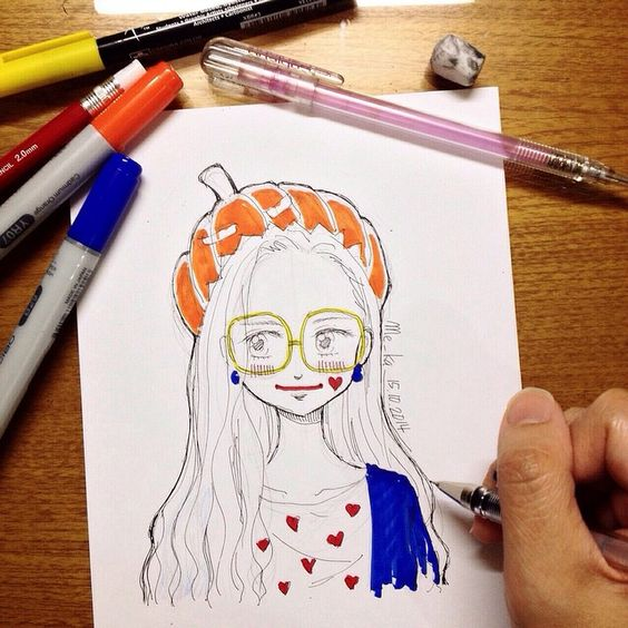 pumpkinhead | #mekaworks #drawing