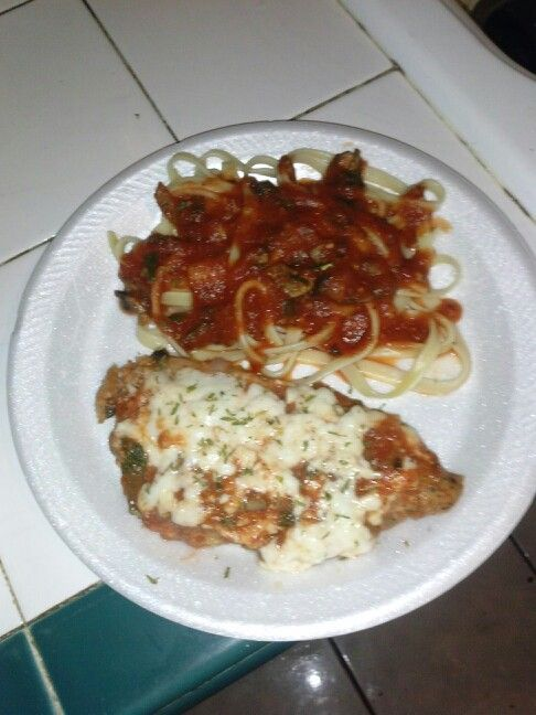 Chicken parmesan with tomato sauce pasta   Cooking recipes   Pinterest ...