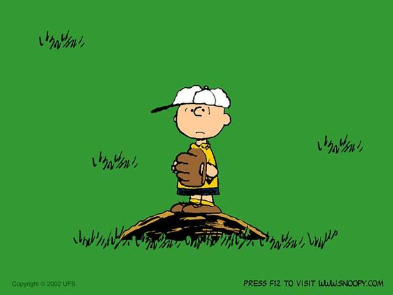 Charlie Brown on his pitcher's mound, baseball 2