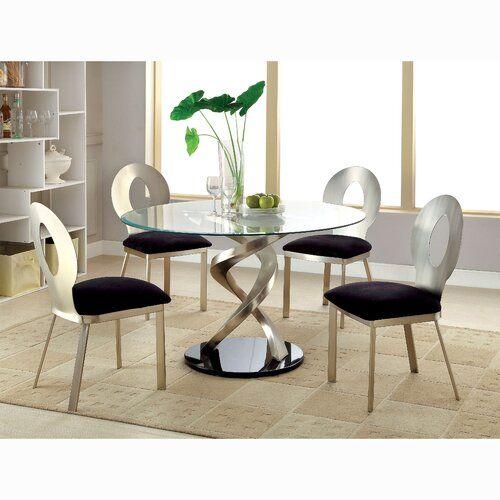 Orren Ellis Beulah 7 Piece Dining Set Reviews Wayfair In 2021 Glass Round Dining Table Glass Dining Table Set Round Dining Table Sets