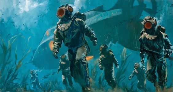 The Harvest, by Greg Manchess. Inspired by 20,000 Leagues Under The Sea. How great is this?: