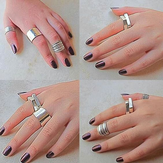 Simple , Elegant and Stylish .... Rings addiction   #silver #jewelry #accessories