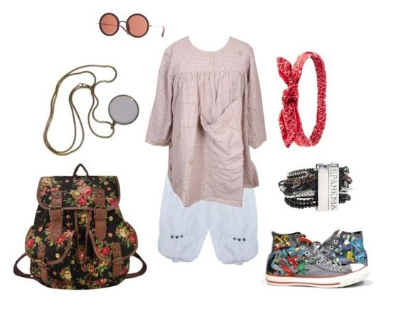 when it's summer by lealeo on Polyvore featuring Magnolia Pearl, Hipanema, Charlotte Russe, Converse, Summer, shorts, boho and linen