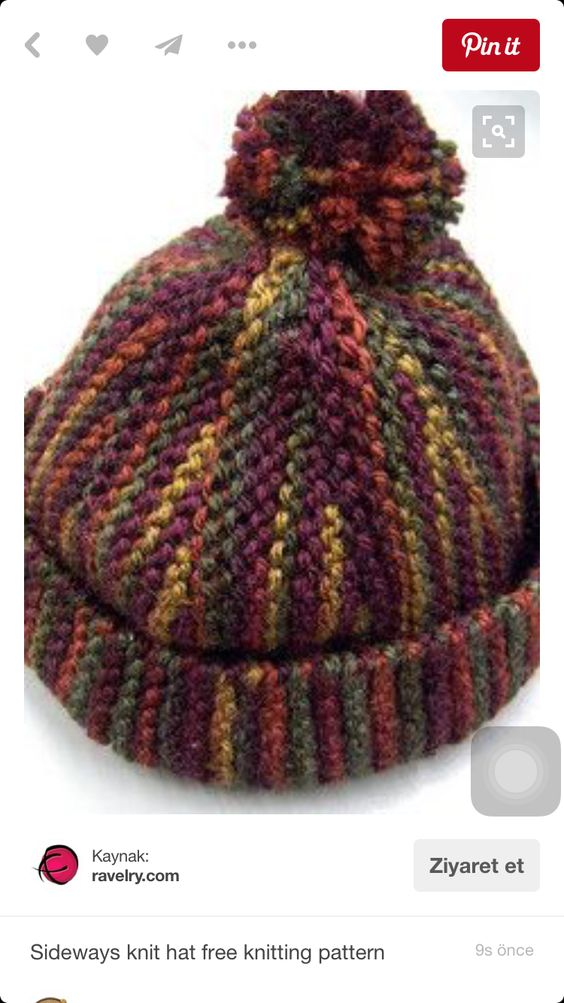 Knit hat, free Ravelry pattern. Projects to Try- Knit ...