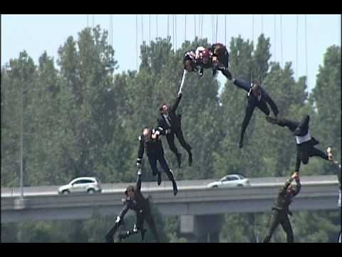 Behind the Scenes of Iron Man 3:  Stunt Crew Flies over Cape Fear River