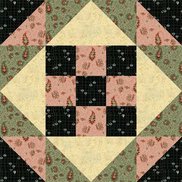 Sew Colorful Nine Patches for the Center of this Easy Star Quilt Block: Make a Batch of Easy Quilt Blocks