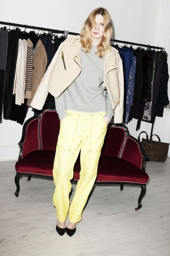 BACK by Ann-Sofie Back Sweatshirt and Trousers, WonHundred Jacket and Shoes.