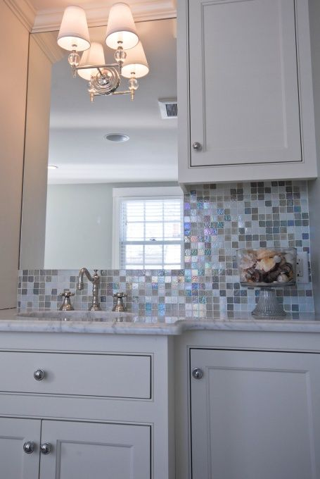 this is a bathroom backsplash, but it could look cute in your house @Charlotte Willner Willner Staton.