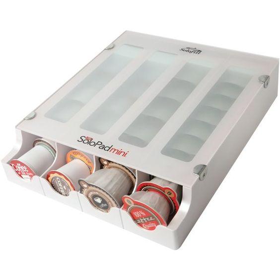 Solofill Mini Coffee K-Cup Dispenser (White)