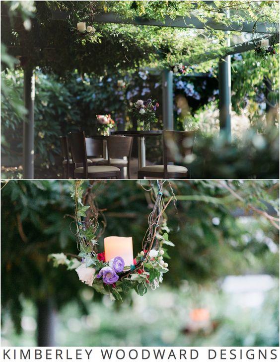 Sally's gorgeous hanging flowers by Lola's Tea Cup. Photographer: Jac and Heath Photography. #weddings #weddingflowers #kimberleywoodwarddesigns