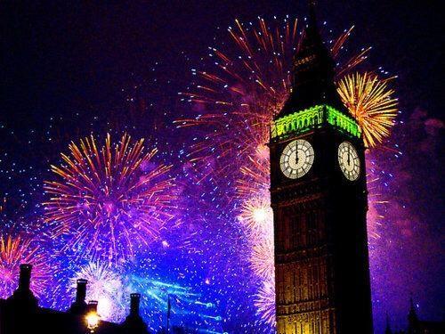 fireworks, london, and Big Ben image