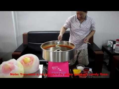 How To Make Flower Cotton Candy Machine On Cc1 Youtube In 2020 Zuckerwatte