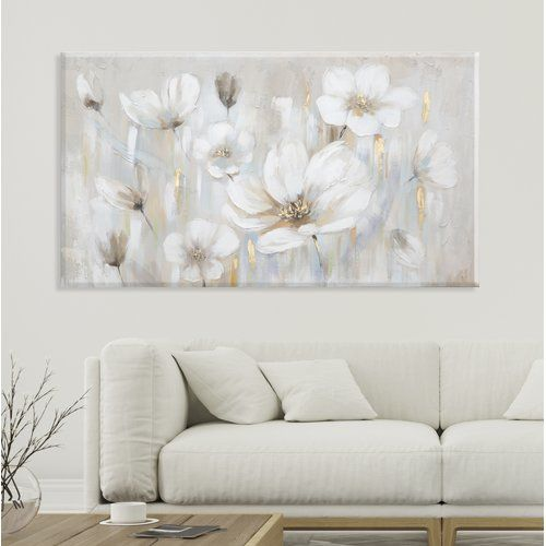 Rus Print On Canvas East Urban Home Large Canvas Art Diy Flower Art Painting Flower Painting Canvas Canvas for living room uk