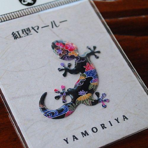 Ryukyu Dning 家守家 オリジナルステッカー 紅型 Yamoriya Shop ステッカー 沖縄 紅型 沖縄 文化