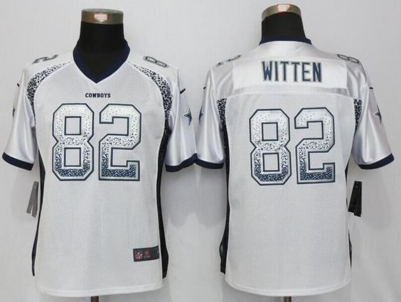 56bfdd4c7e0 ... Womens Dallas Cowboys 82 Jason Witten Drift Fashion White Nike Elite  Jersey 2016 New NFL Cheap ...
