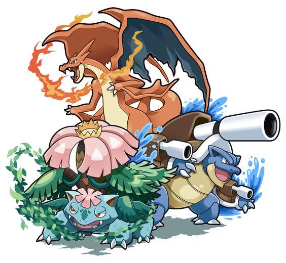 Mega Charizard (Y), Mega Blastoise, and Mega Venusaur ...