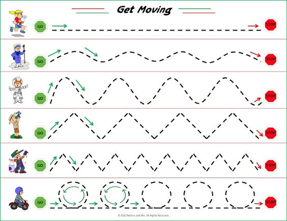 ... to end in the corresponding shapes promotes visual motor development