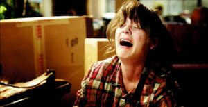 new girl sobbing