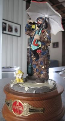 Emmett Kelly Coca Cola Musical Figurine