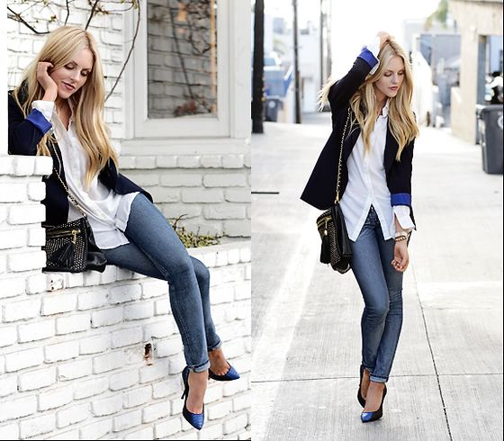 casual friday: Casual Style, Addiction Clothess, Blazer Jeans, Blue Blazers, Blue Accents, Jeans Blue