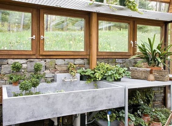 ... Home Pinterest Greenhouses, We and Concrete countertops