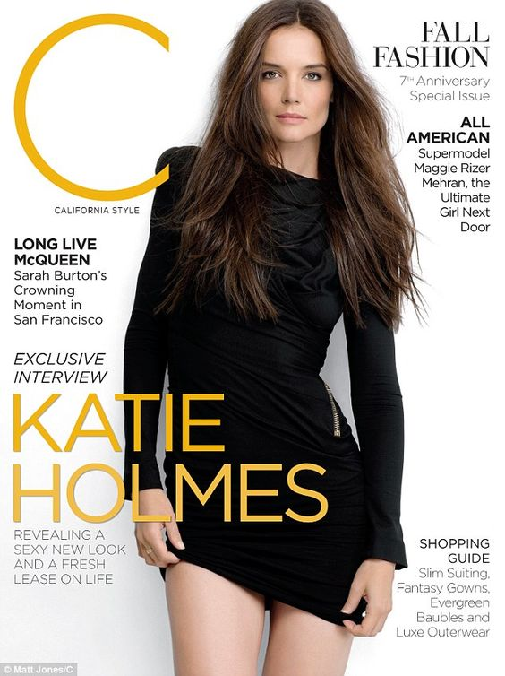 Katie Holmes on the front of C Magazine.