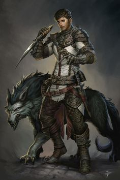 Male Human Ranger with Short Sword