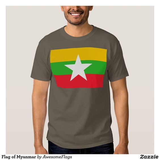 Flag of Myanmar T Shirt