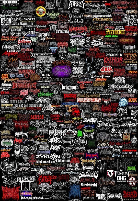 Imágenes de Heavy Metal para fondo de pantalla celular - Wallpapers para smartphones y pc para descargar - Logos de bandas