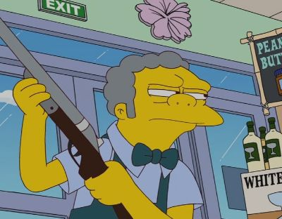 moe szyslak shotgun painting - Google Search