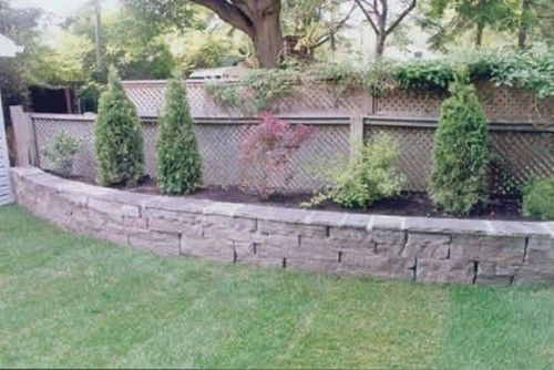 Raised Flower Bed Wall...love it rounded out!!