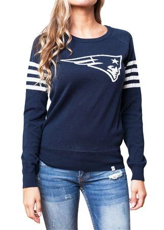 New England Patriots Womens Varsity Sweater   SportyThreads.com