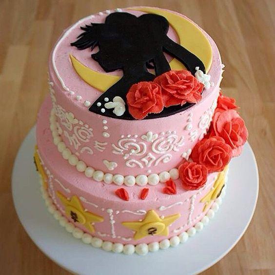 Sailor Mercury Birthday Cake