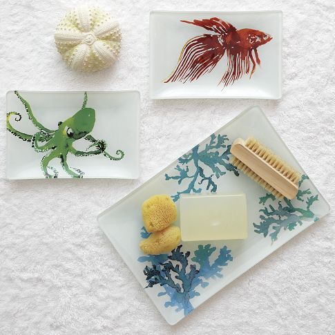 Sea Life Decoupage Trays