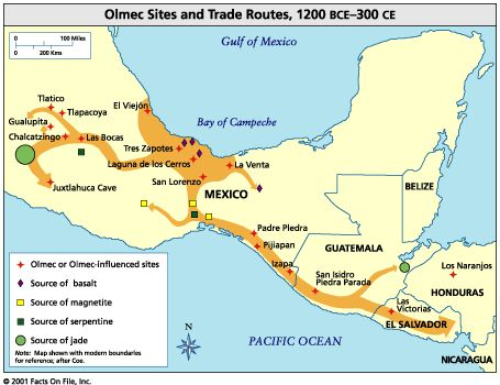 Ancient Toltec Territory Map