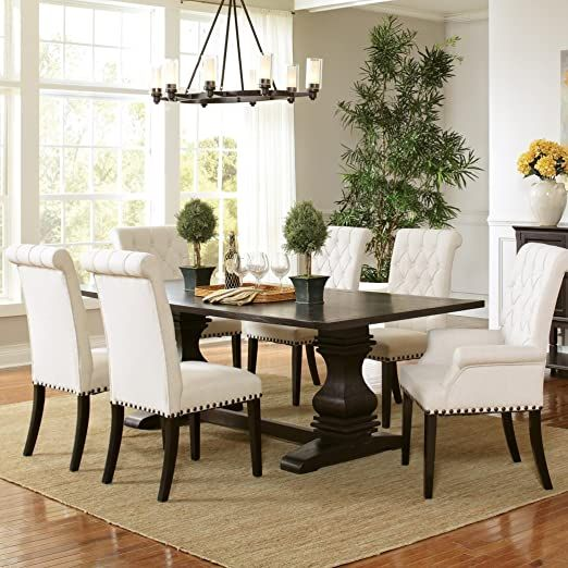Coaster Home Furnishings Parkins 5 Piece Dining Set Rustic Espresso Modern Furniture Sets Home Decor Home Furnishings