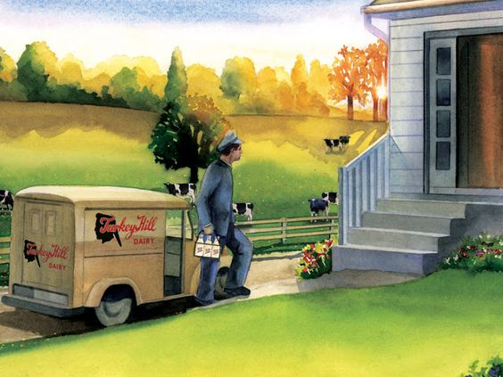 Diary of a Stay at Home Mom: Milk Delivery.....wish it was still around.