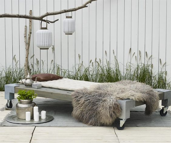 CUBIC Daybed Gartenbett Bett Liege Sonnenbett Sonnenliege in Garten & Terrasse, Möbel, Liegen | eBay